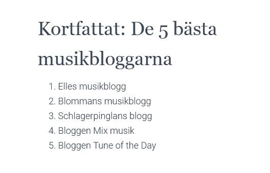 De bästa musikbloggarna 2021